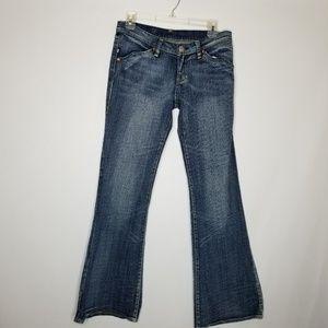 Rock & Republic Motley Stretch Flare Jean Size 28